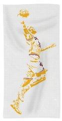 Lebron James Cleveland Cavaliers Pixel Art Beach Sheet by Joe Hamilton