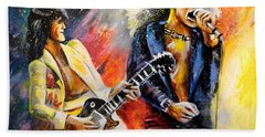 Led Zeppelin Passion Beach Sheet by Miki De Goodaboom