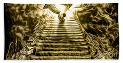 Led Zeppelin Stairway To Heaven Beach Towel by Marvin Blaine