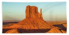 Left Mitten Sunset - Monument Valley Beach Towel