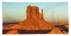 Left Mitten Sunset - Monument Valley Beach Towel