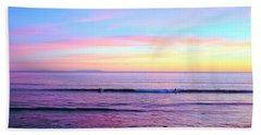 Left Right Sunset Beach Towel