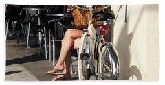 Leg Power - On Montana Avenue Beach Towel