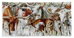 Legacy Of The Longhorn Beach Towel