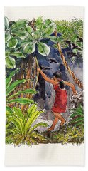 Legend Of The Kopeka Cave Beach Towel