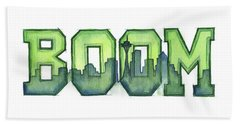 Legion Of Boom Beach Towel by Olga Shvartsur