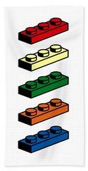Lego T-shirt Pop Art Beach Towel