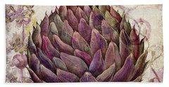 Legumes Francais Artichoke Beach Towel by Mindy Sommers
