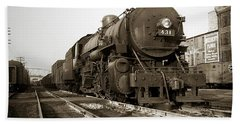 Lehigh Valley Steam Locomotive 431 At Wilkes Barre Pa. 1940s Beach Towel
