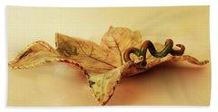 Leaf Plate 1 Beach Towel by Itzhak Richter