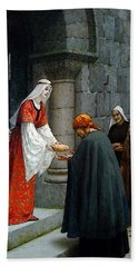Leighton Edward Blair Charity Of St Elizabeth Of Hungary Beach Sheet