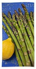 Lemon And Asparagus  Beach Towel by Garry Gay