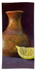 Lemon And Horsehair Vase A First Meeting Beach Towel