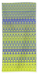 Lemon Blue Mirage Tapestry Beach Towel by Ann Johndro-Collins