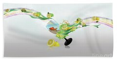 Lemon Fish Beach Towel