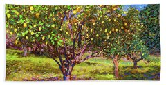 Lemon Grove Of Citrus Fruit Trees Beach Towel