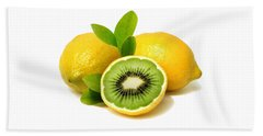 Lemon Kiwi Beach Towel