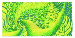 Beach Towel featuring the drawing Lemon Lime by Kim Sy Ok