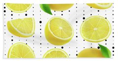 Lemon  Beach Towel by Mark Ashkenazi