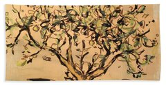 Beach Towel featuring the painting Lemon Tree by Maria Langgle