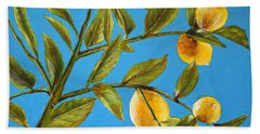 Beach Sheet featuring the painting Lemon Tree by Marna Edwards Flavell
