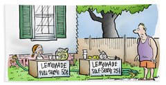 Lemonade Stand Beach Towel