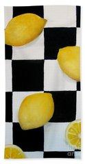 Lemons Beach Towel by Carol Sweetwood
