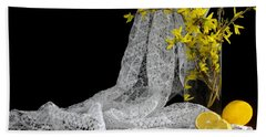 Lemons'n Lace Beach Towel by Diana Angstadt