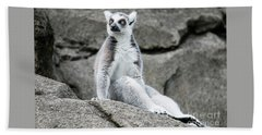 Lemur The Cutie Beach Towel