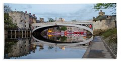 Lendal Bridge Reflection  Beach Towel