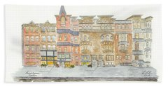 Lenox Avenue In Harlem Beach Sheet