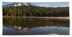 Lenticular Cloud At Reflection Lake Beach Towel