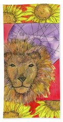 Beach Sheet featuring the painting Leo by Cathie Richardson