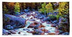 Leo Falls Beach Towel by Dave Luebbert