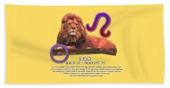 Leo Sun Sign Beach Towel