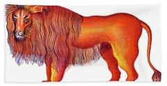 Leo The Lion Beach Towel by Jane Tattersfield