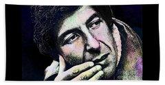 Leonard Cohen - Drawing Tribute Beach Towel