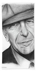 Leonard Cohen Beach Towel