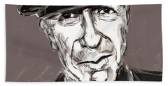 Leonard Cohen  Beach Towel by Jim Vance