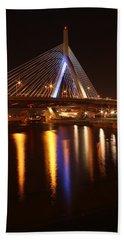 Leonard P. Zakim Bunker Hill Bridge Reflection 2 Beach Towel