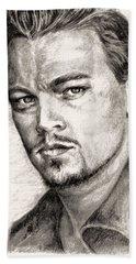 Leonardo Dicaprio Portrait Nr.2 Beach Towel