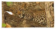Leopard Cub Beach Towel