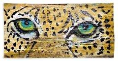 Leopard Eyes Beach Sheet by Ann Michelle Swadener