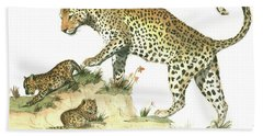 Leopard Family Beach Towel