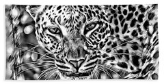 Beach Towel featuring the photograph Leopard by Lucia Sirna