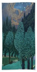 Les Alycamps And The Starry Night Beach Towel