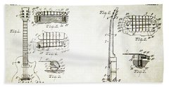 Les Paul Guitar Patent 1955 Beach Towel