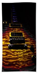 Tri-burst Quilt Top Guitar Spotlight Series Beach Towel