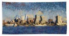 Less Wacky Philly Skyline Beach Sheet by Trish Tritz