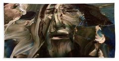 Beach Towel featuring the painting Let Go The Anchor by Kicking Bear Productions